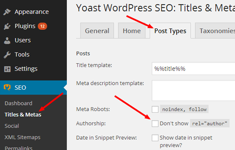 Google Authorship Post Types