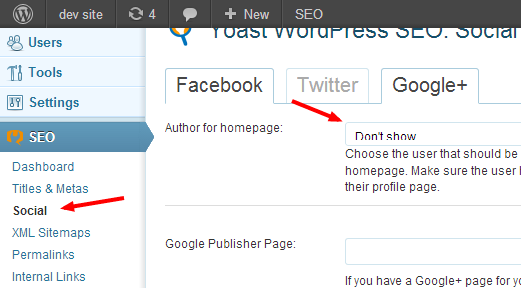 Optionally Set Google Authorship for Home Page