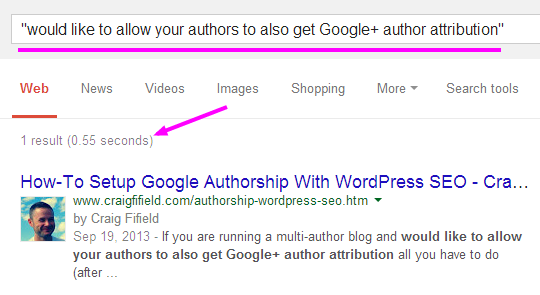 search showing authorship picture